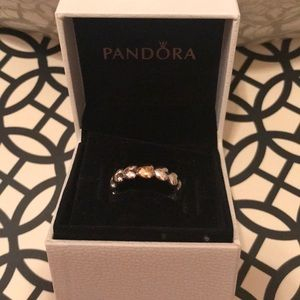 "Pandora ""One True Love"" ring size 7"